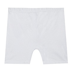 Debenhams - Pack of two children's white school cycling shorts