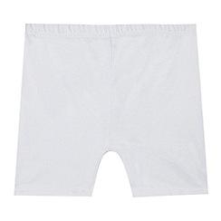 Debenhams - Pack of two children's white school cycling shorts