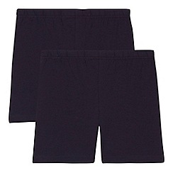 Debenhams - 'Set of 2 children's navy school cycling shorts