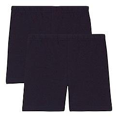 Debenhams - 'Set of 2 children's navy school cycling shorts
