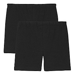 Debenhams - 'Set of 2 childrens' black school cycling shorts