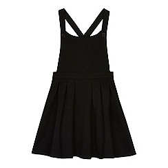 Debenhams - Girls' black pinafore