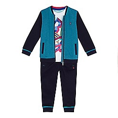 Baker by Ted Baker - Boys' navy tipped bomber jacket and jogging bottoms set