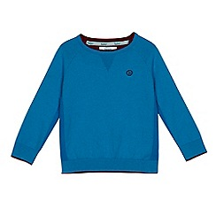 Baker by Ted Baker - Boys' blue ribbed side panel jumper with Merino wool