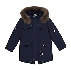 239020152043: Boys navy faux fur parka