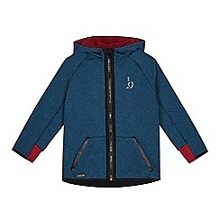 Baker by Ted Baker - Boys' dark turquoise zip through hoodie