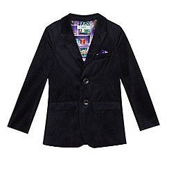 Baker by Ted Baker - Boys' navy velour jacket
