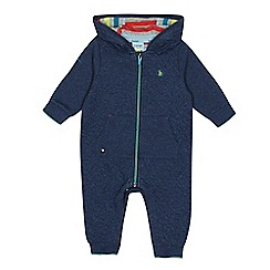 Baker by Ted Baker - Baby boys' blue quilted snuggle suit