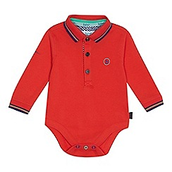 Baker by Ted Baker - Baby boys' red polo shirt bodysuit