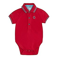 Baker by Ted Baker - Baby boys' dark pink polo bodysuit