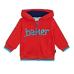 Baker by Ted Baker - Baby boys' red logo print zip through hoodie