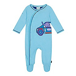 Baker by Ted Baker - Baby boys' light blue car applique sleepsuit