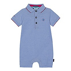 Baker by Ted Baker - Baby boys' light blue polo romper suit