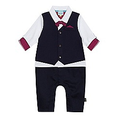 Baker by Ted Baker - Baby boys' navy mock romper suit