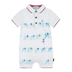 Baker by Ted Baker - Baby boys' white elephant print romper suit