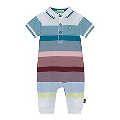 Baker by Ted Baker - 'Baby boys' multi-coloured striped romper suit
