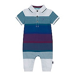 Baker by Ted Baker - 'Baby boys' multi-coloured herringbone striped romper suit