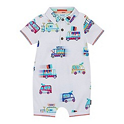 Baker by Ted Baker - 'Baby boys' white ice cream van print romper suit