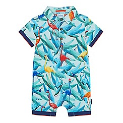 Baker by Ted Baker - Baby boys' multi-coloured flamingo print romper suit