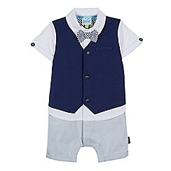 Baker by Ted Baker - 'Baby boys' navy mock romper suit