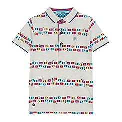 Baker by Ted Baker - Boys' grey traffic jam print polo shirt