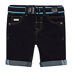 Baker by Ted Baker - Boys' dark blue denim belted shorts