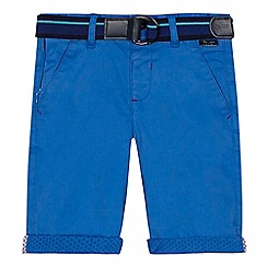 Baker by Ted Baker - Boys' blue belted chino shorts