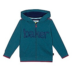 Baker by Ted Baker - Boys' Turquoise logo zip through hoodie