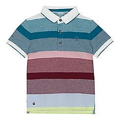 Baker by Ted Baker - 'Boys' multi-coloured striped polo shirt
