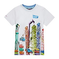 Baker by Ted Baker - Boys' white crane and car print t-shirt