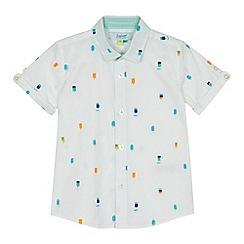 Baker by Ted Baker - 'Boys' white ice lolly print shirt