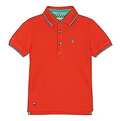 Baker by Ted Baker - 'Boys' orange tipped polo shirt