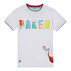 Baker by Ted Baker - 'Boys' white logo print t-shirt
