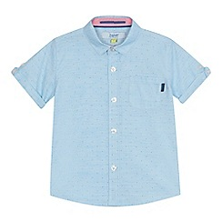 Baker by Ted Baker - 'Boys' light turquoise spotted shirt
