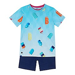 Baker by Ted Baker - Boys' blue ice lolly print t-shirt and navy shorts set
