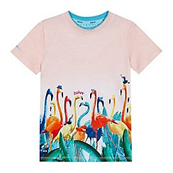 Baker by Ted Baker - 'Boys' coral flamingo print top
