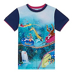 Baker by Ted Baker - 'Boys' multi-coloured animal rollercoaster print t-shirt