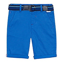 Baker by Ted Baker - 'Boys' blue diamond print chino shorts