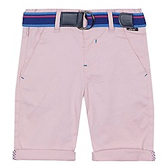 Baker by Ted Baker - 'Boys' pink chino shorts