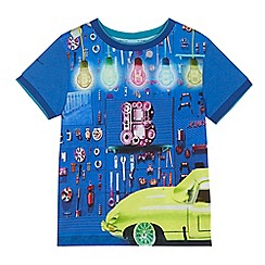 Baker by Ted Baker - Boys' blue mechanic shop print t-shirt