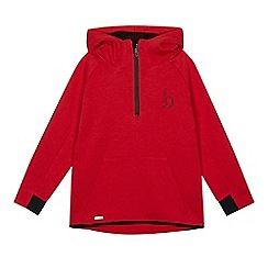 Baker by Ted Baker - Boys' red zip neck hoodie