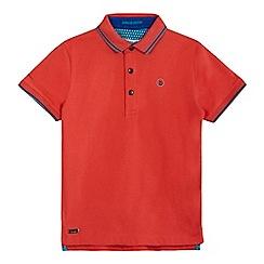 Baker by Ted Baker - Boys' orange tipped polo shirt