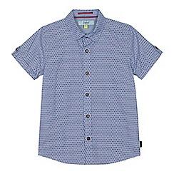 Baker by Ted Baker - Boys' blue geometric dot print shirt