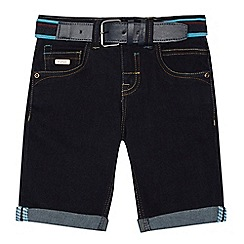 Baker by Ted Baker - Boys' dark blue denim slim fit shorts