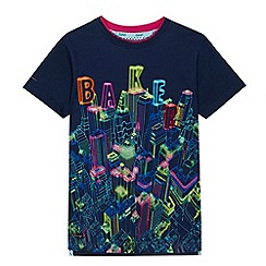 Baker by Ted Baker - Boys' navy logo city scene print t-shirt