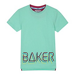 Baker by Ted Baker - Boys' green logo print t-shirt