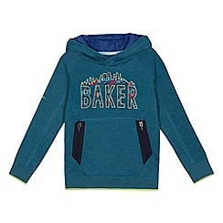 Baker by Ted Baker - Boys' green skyline logo print hoodie