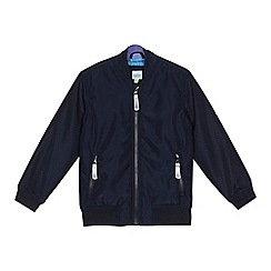 Baker by Ted Baker - Boys' navy textured bomber jacket