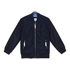 Baker by Ted Baker - Boys' navy textured bomber jacket