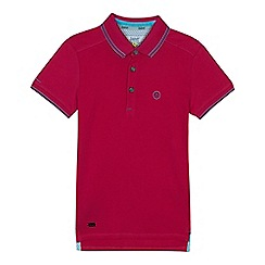 Baker by Ted Baker - 'Boys' dark pink logo polo shirt